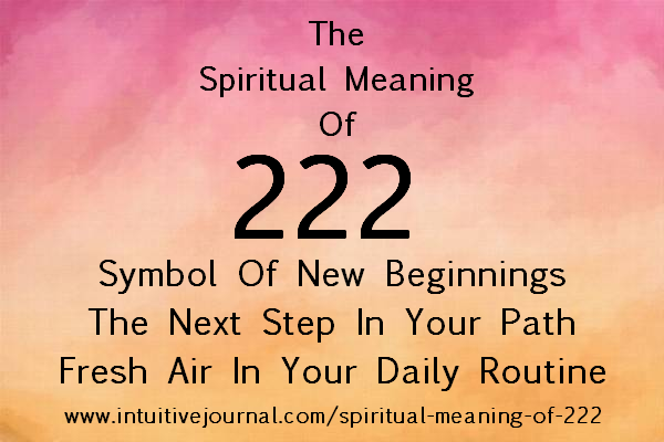 222 Angel Number Spiritual Meaning Of 222