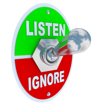 not listening to your intuition
