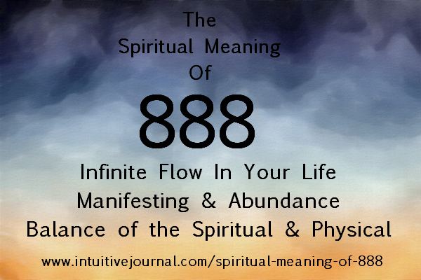 Spiritual Meaning Of 888 Intuitive Journal Angel Number 888